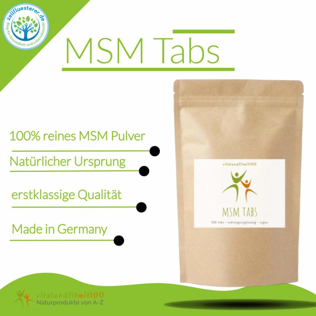 MSM Tabs von der Zellflüsterer